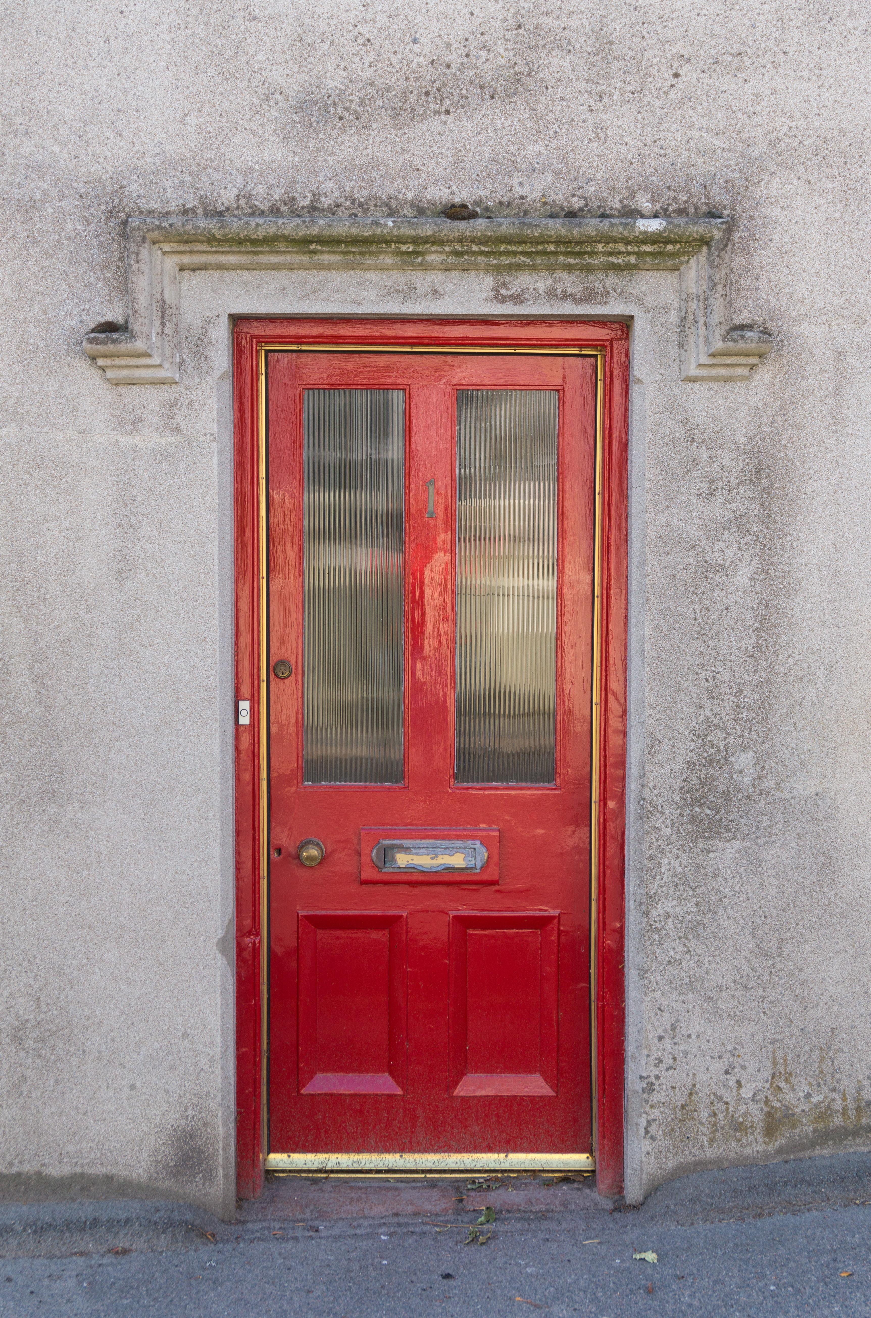 Red Wooden Door - Doors - Texturify - Free textures