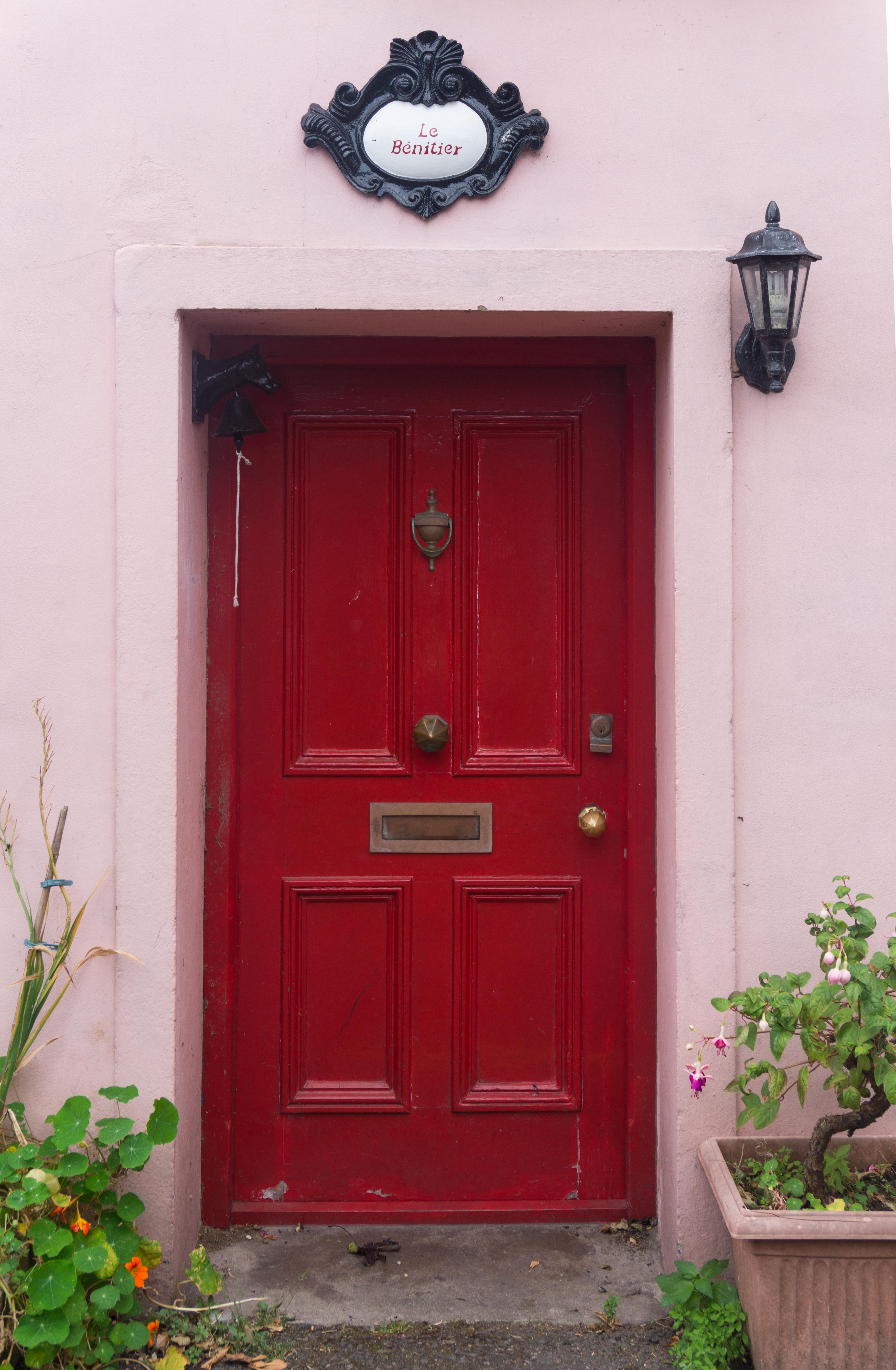 Original Red Wooden Door Doors Texturify Free Textures