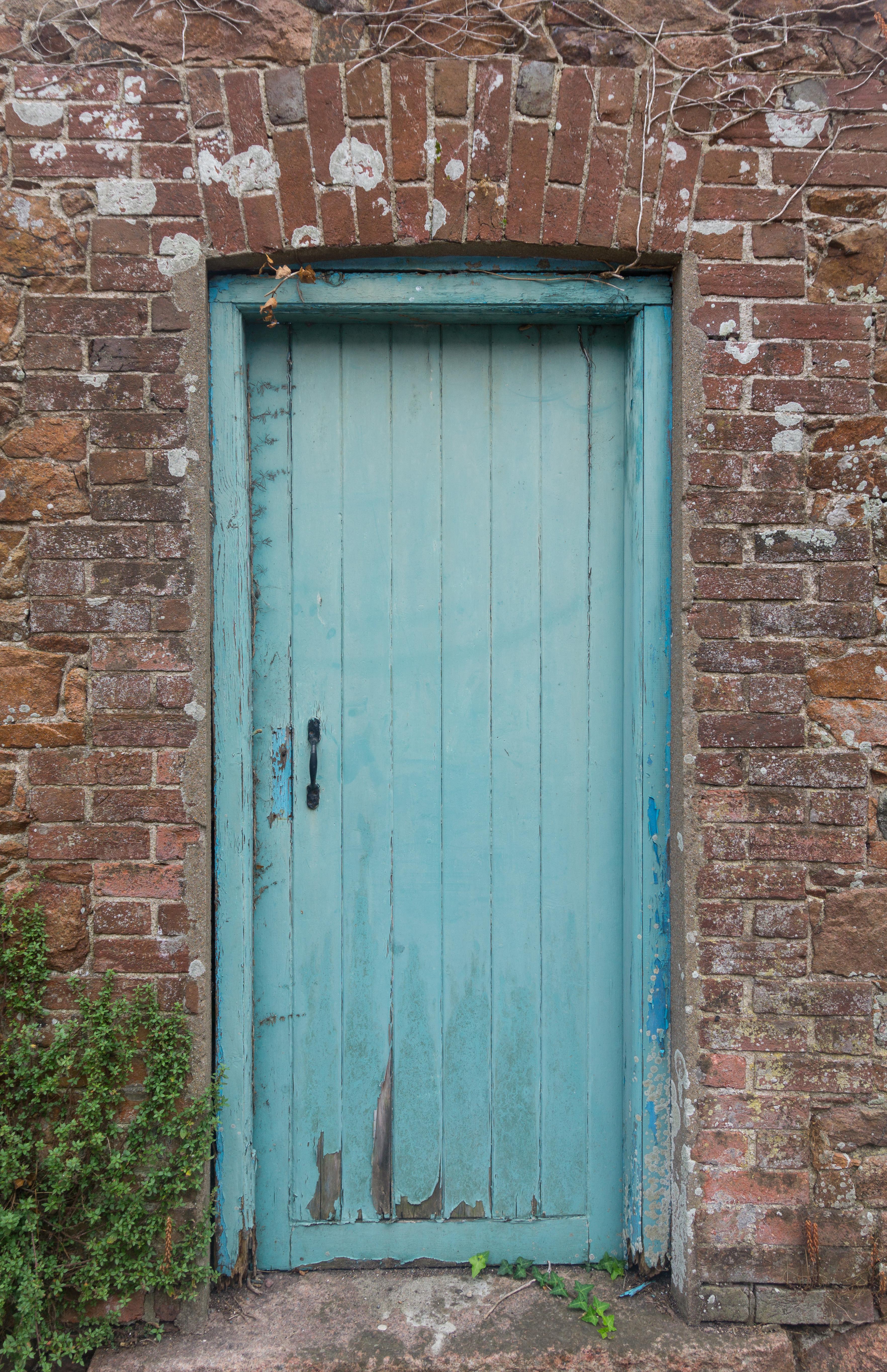 Blue painted wooden door - Doors - Texturify - Free textures